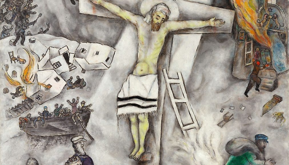 La Crucifixion blanche, Marc Chagall, 1938 / ©2018 Artists Rights Society (ARS), New York ADAGP, Paris/Domaine public
