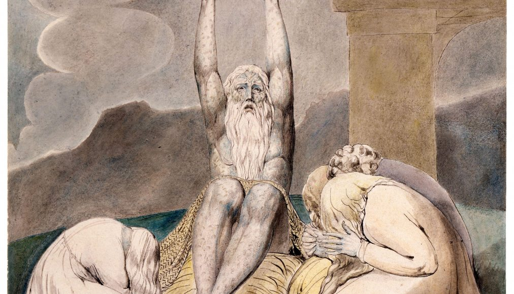 © Le désespoir de Job, aquarelle de William Blake, 1805