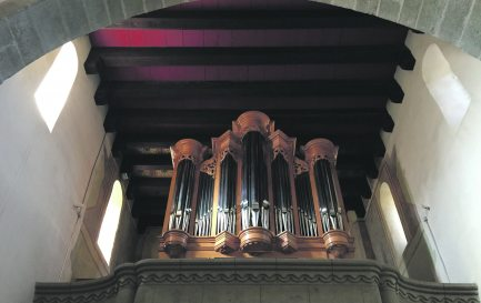 Le nouvel orgue du temple de Cossonay. / © Pierre Porret
